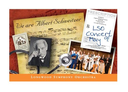 This Saturday, The Albert Schewitzer Fellowship will partner with the Longwood Symphony Orchestra for a concert honoring David Satcher -- and celebrating Albert Schweitzer's ongoing legacy of translating idealism into action.