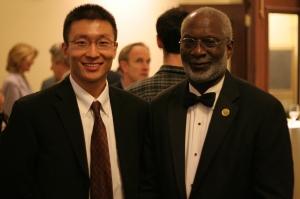 2007-08 Schweitzer Fellow Zirui Song; Former US Surgeon General Dr. David Satcher.
