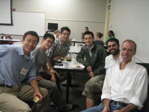 2007-2008 Boston Schweitzer Fellow Zirui Song (above, far left) with other 2007-2008 Fellows.
