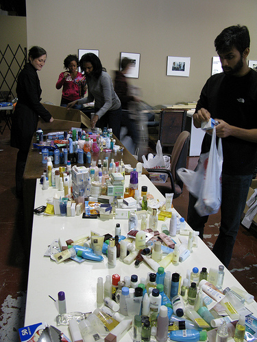 Fellows collected and organized hundreds of travel-size toiletries for StreetWise's vendors.